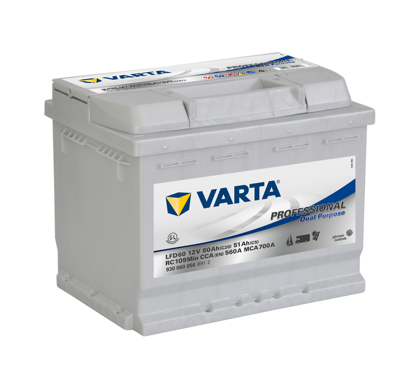 VARTA Professional Dual Purpose (Deep Cycle) 60Ah , LFD60