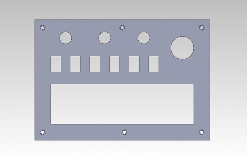 Vypínačový panel s pojistkami a otvorem pro autorádio 1DIN