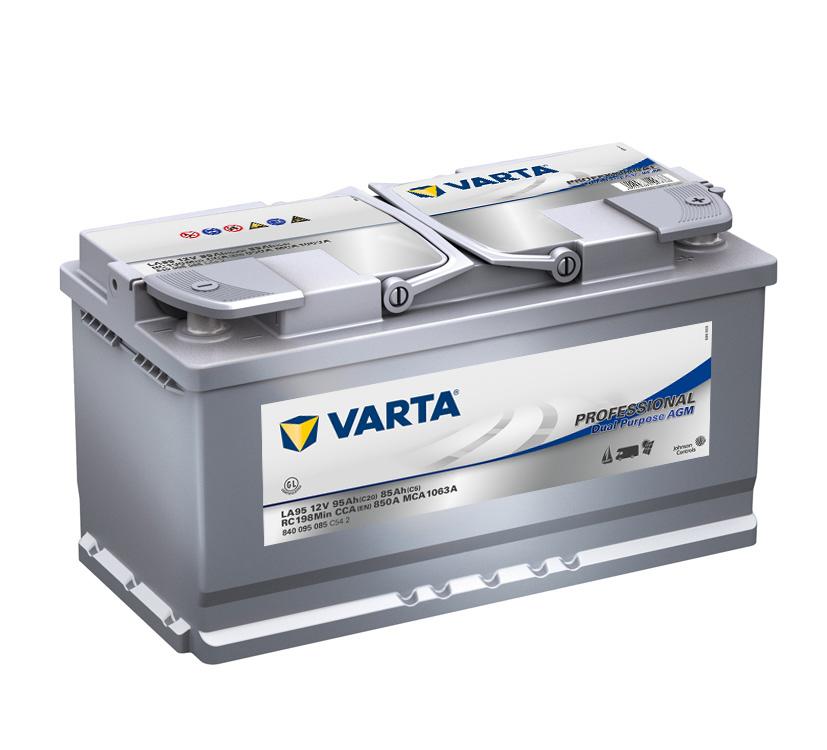 Trakční,start.baterie Varta Professional AGM 12V 95Ah 850A