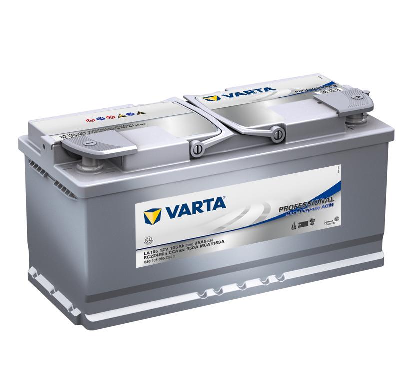 Trakční,start.baterie Varta Professional AGM 12V 105Ah 950A